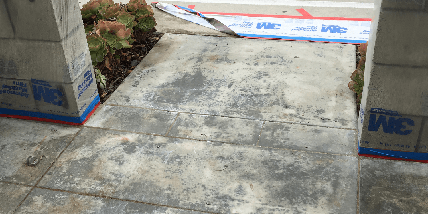 How to fix stained or blotchy colored concrete.