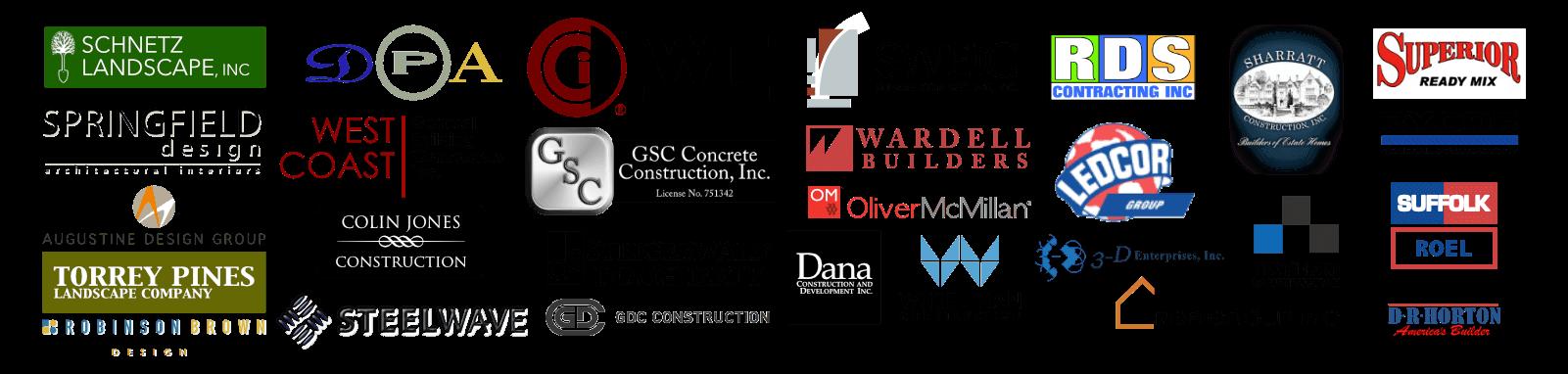 Concrete Remodelers partial client list