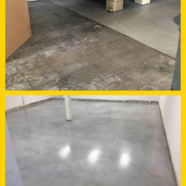 Stained concrete in San Diego county warehouse.