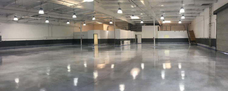 Laboratory / Warehouse stained concrete with chemical resistant flooring.