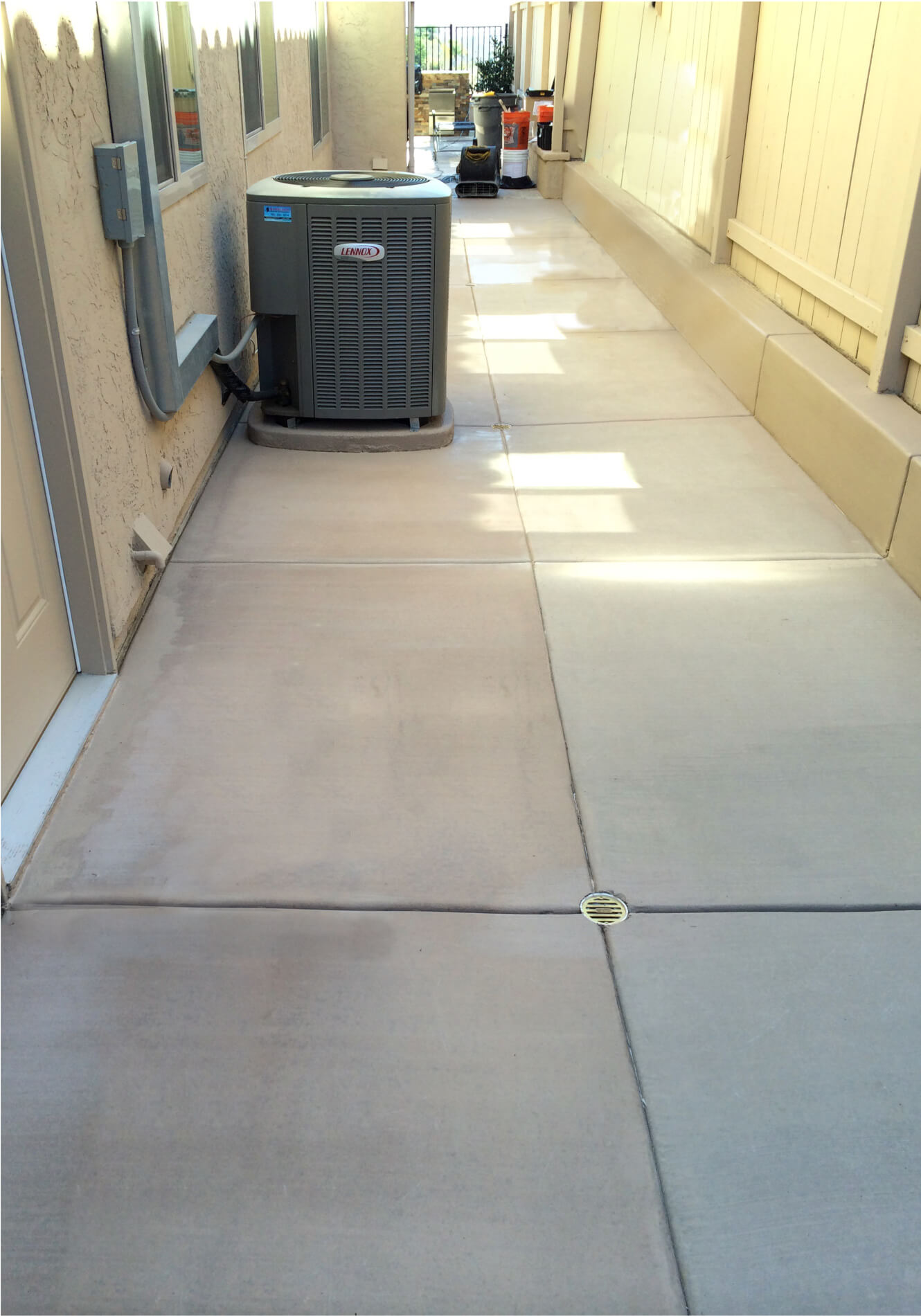 We fix concrete color that does not match.